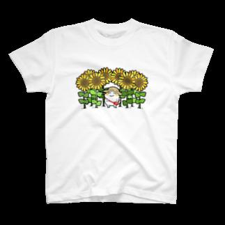 MTTR_SHOPのひまわり畑とまっちろ T-shirts