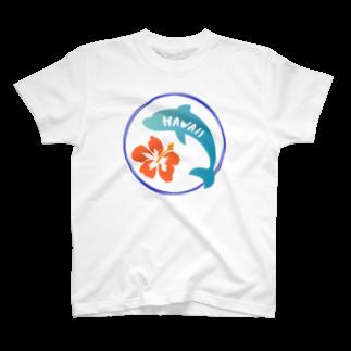 てぃーのショップのハワイアン*ドルフィン T-shirts