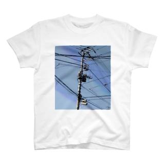 電柱 3A T-shirts