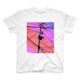 電柱 3B T-shirts