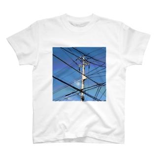 電柱 4A T-shirts