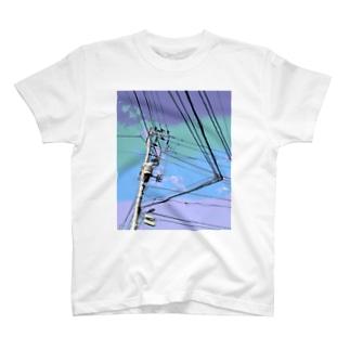 電柱 1A T-shirts