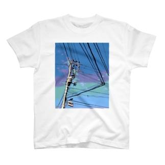 電柱 1B T-shirts