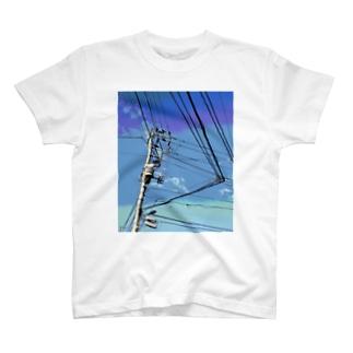 電柱 1C T-shirts