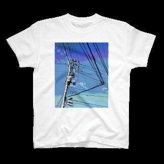 あにろりの電柱 1C T-shirts