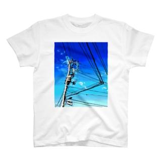 電柱 1D T-shirts