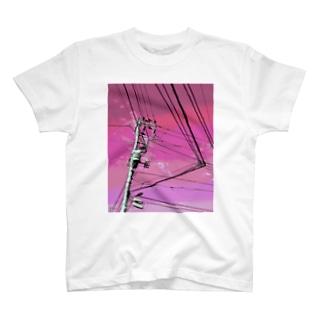電柱 1E T-shirts