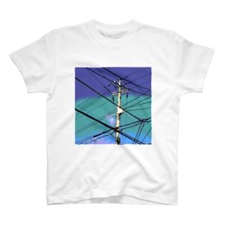 電柱 4B T-shirts