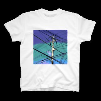 あにろりの電柱 4B T-shirts