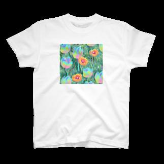 下之下の虹色芝生 T-shirts