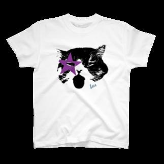 むぎ&みそのあっかんべー猫 T-shirts