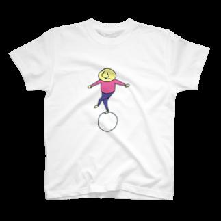 のたのまるに乗る(ピンク) T-shirts