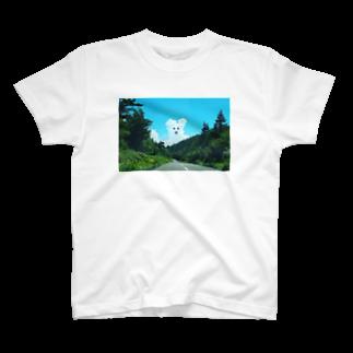 みみずさんのくまくも T-shirts