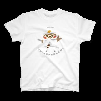 aliveONLINE SUZURI店のスズメ忍法帖 T-shirts
