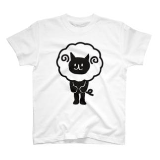ひつじどうぶつ(ねこ) T-shirts