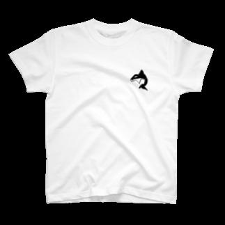 見ないで書く絵のシャチ T-shirts