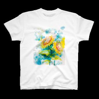 AWESOME CLOUDのhimawari T-shirts