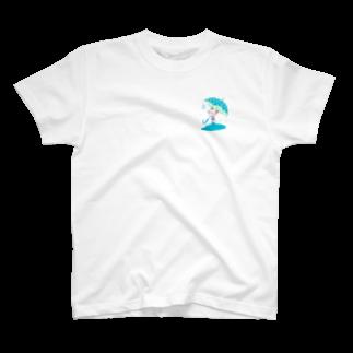 よしだゆのあめふりネコチャン T-shirts