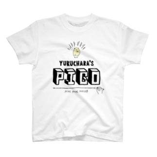 ハムスターのぴこ タイポグラフィーver. T-shirts