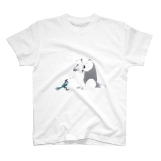ミナミコアリクイとカササギ T-shirts