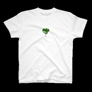北川ともあき Onlineのモンステラ T-shirts
