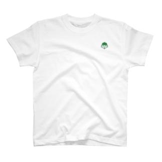 施工の神様の「施工の神様」ミニプリントロゴ T-shirts