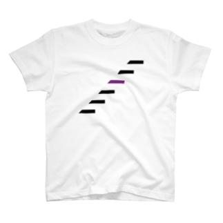 乃木坂オタクには三角が見えるTシャツ(6 steps) T-shirts