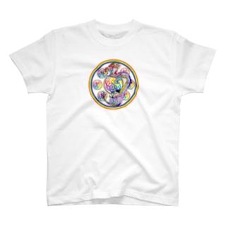 心マンダラ極彩龍 T-shirts
