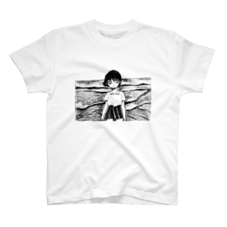 ansbrsiaiwmuitdの海べの女の子 T-shirts