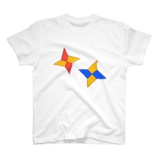 折り紙手裏剣 T-shirts
