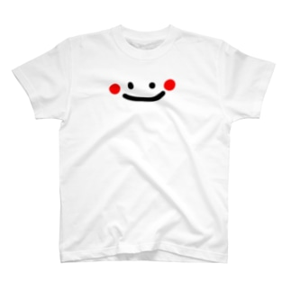 白い物体顔だけてぃしゃつ T-shirts