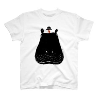 相思相愛 カバとトリ T-shirts
