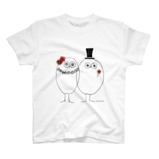 相思相愛 フクロウ T-shirts