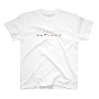 【うさだじょ】虹1 T-shirts