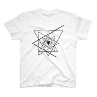 ぐるぐる Triangle T-shirts