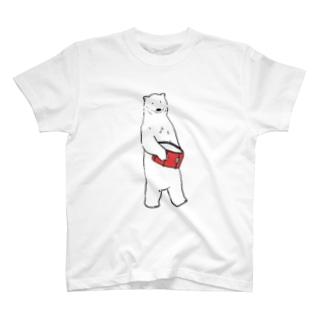 しろくま(スネア) T-shirts