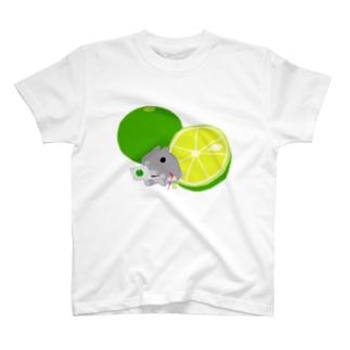 小梅うさぎのすだちネード T-shirts