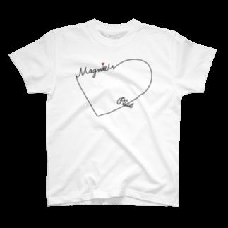 💛ハチ💛戦う社畜マンのハートロゴTシャツ T-shirts