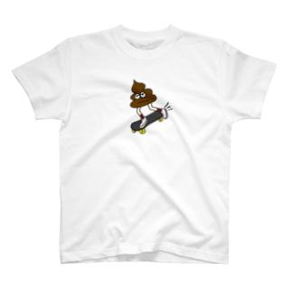う○こスケーター T-shirts