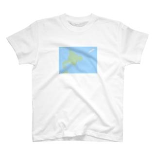 抽象化された北海道先輩 T-shirts