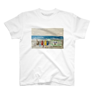 Cat the wave T-shirts