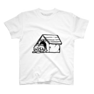 家虎たま(お昼寝) Tシャツ(白っぽい色) T-shirts