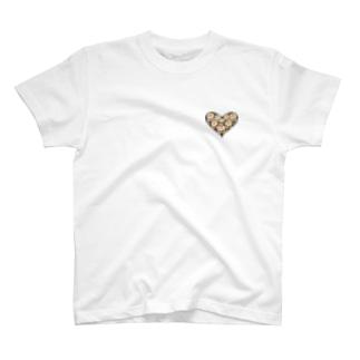 【Many faces】heart small 1-p  T-shirts