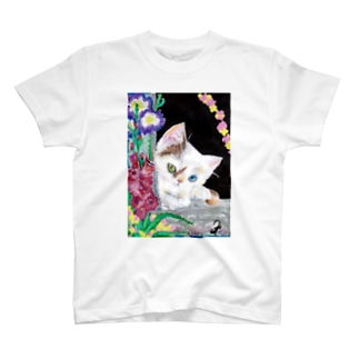 BIRTHDAY WEEK CAT T-shirts