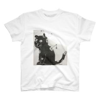 黒猫のゾンビ T-shirts