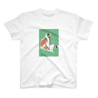 アメコミ風×ワオキツネザル T-shirts