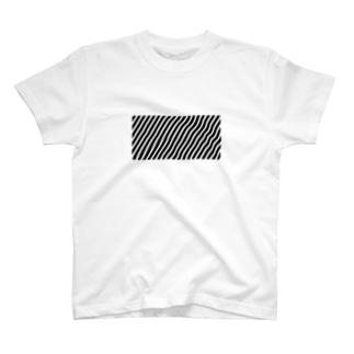斜めストライプT T-shirts