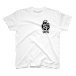 ひょっとこ牡丹 T-shirts