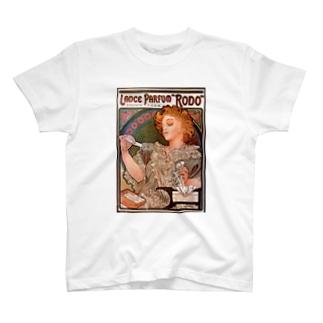 ミュシャ / 1896 /Lance parfum Rodo / Alphonse Mucha T-shirts
