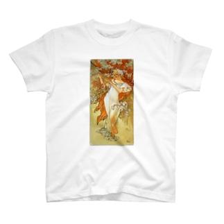 ミュシャ / 1896 / Spring / Alphonse Mucha T-shirts